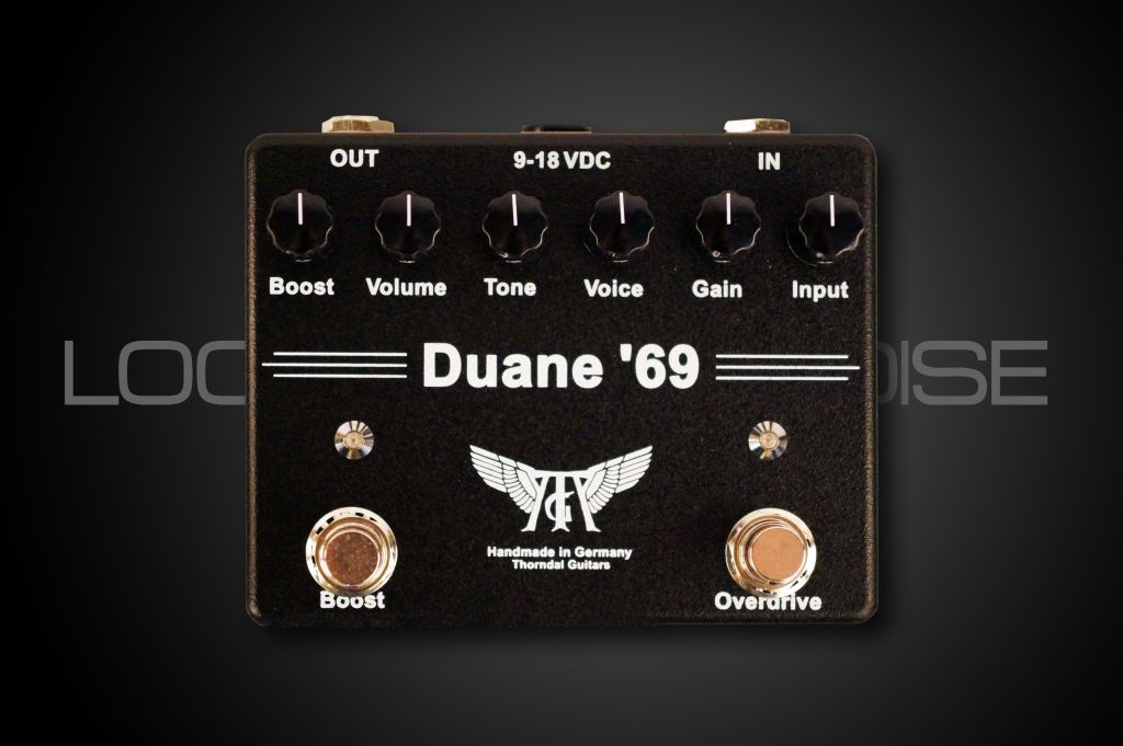 Thorndal DUANE 69 - Overdrive/Boost-Pedal in Black