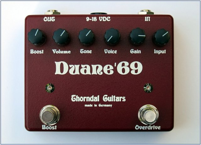 Thorndal DUANE 69 - Overdrive/Boost-Pedal in RED