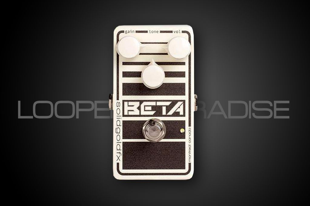 Solid Gold FX Beta Bass Drive Overdrive Cream & Onyx Finish